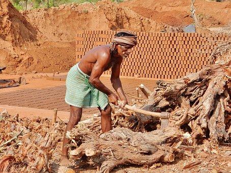 India, Man, Work, Heavy Work
