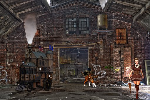 Steampunk, Fantasy, Industrial, Vintage, Old-fashioned