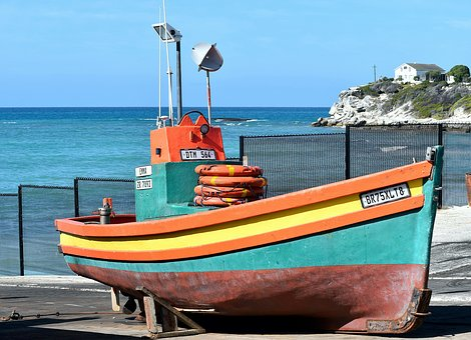 Fishing Boat, Sea, Dry Dock, Marine, Cape Agulhas