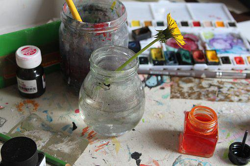 Water, Painting, Paint, Ink, Artist, Colored, Yellow
