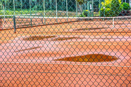 Fence, Demarcation, Protection, Protect, Tennis Court