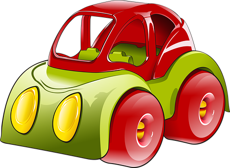 Car, Vehicle, Toy, Transport, Red, Drawing, Graphics