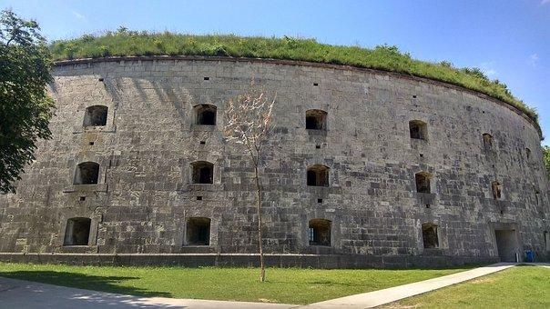 Fortress, Monostori Fortress, Komárom, Hungary, Rook