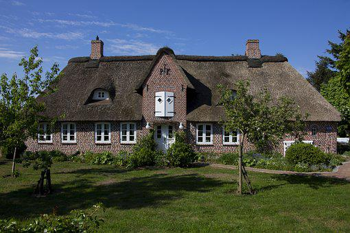 Thatched Roof, Home, Thatched, Rural, Northern Germany