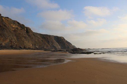 Beach, Coast, Aljezur, Sea, Sand, Ocean, Travel