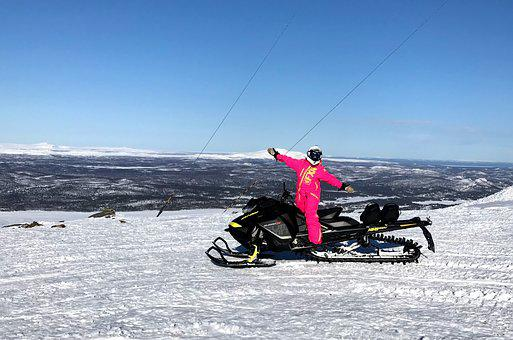 Scooter, Mountain, Nature, Swedish Mountains, Snow