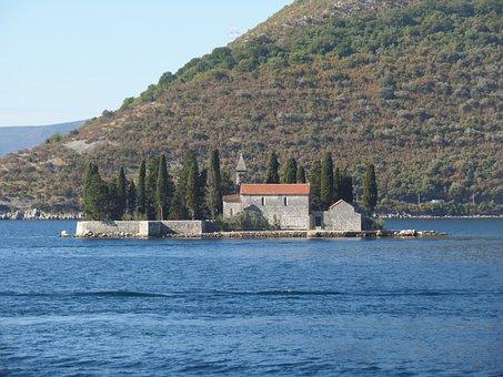 Sea, Church, Religion, Chapel, Landscape, Adriatic