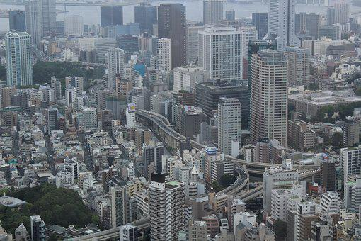 Tokyo, Japan, Sky, Skyline, City, Skyscraper