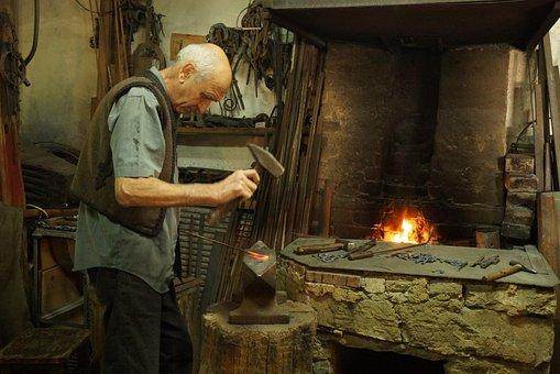 Smith, Iron, Craft, Master, Workshop, Firefox, Old