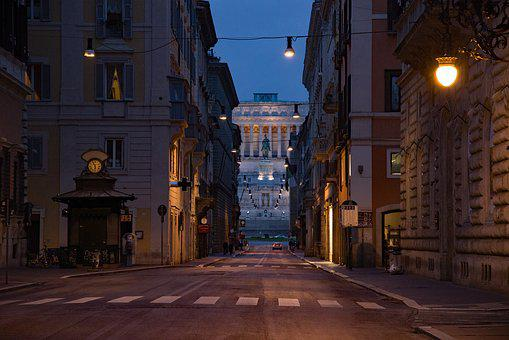 Street, Dawn, Sunrise, Capitol, Capitole, Monument