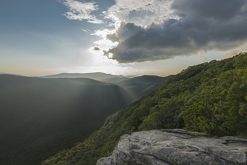 Sunset, Mountains, North Carolina, Landscape, Scenic