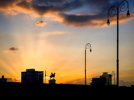 Silhouette, Statue, Sunset, Monument, Sculpture, Figure