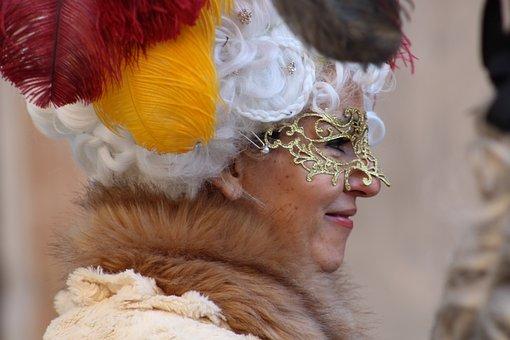 Venice, Carnival, Mask, Creativeness, Costume, Masks