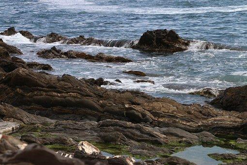 Sea, Rocks, Waves, Italy, Liguria, Water, Boulders
