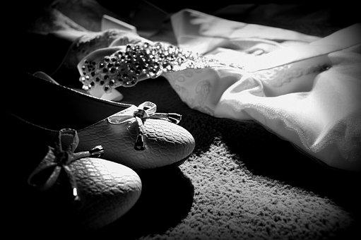 Wedding, Bride, Dress, Ornament, Photos, Dress Details