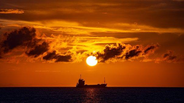 Sun, Sunset, Sky, Cloud, At Dusk, Japan, Landscape