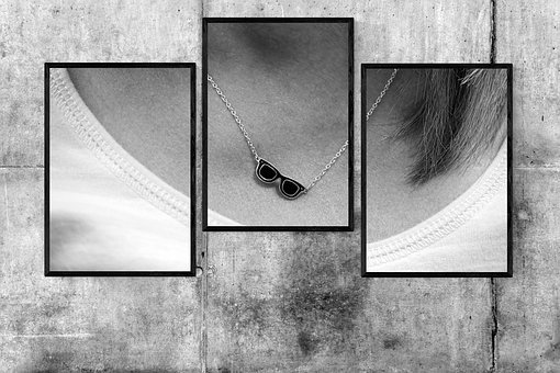 Black And White, Woman, Necklace, Casey Neistat
