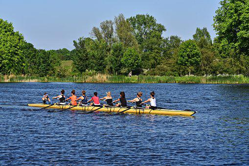 Boat, Shell, Rowing, Rowers, Sport, Coxed Eight