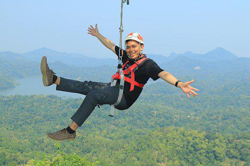 Flying Fox, Brave, Explore, High, Save, Mountain, Lake