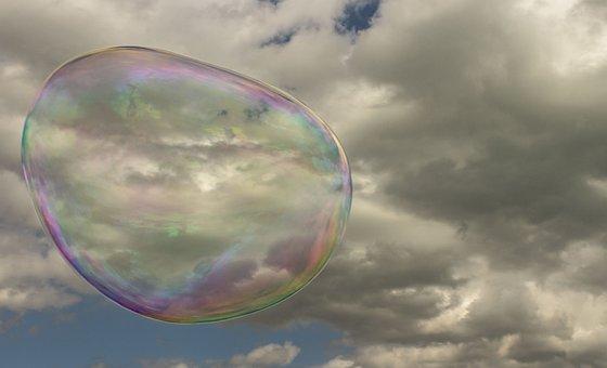 Soap, Bubbles, Fun, Bubble, Fly, Sphere, Rainbow