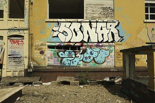 Graffiti, Tag, Demolition, Building