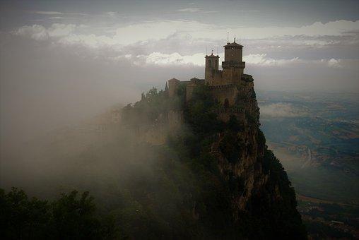 Castle, Clouds, Sky, Italy, Cloud, Castles