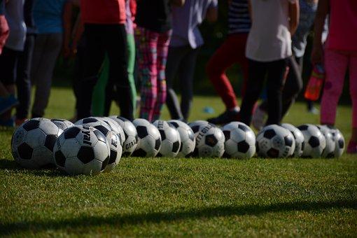 Ball, Balloon, Children, Sport, Field, Boy, Fun