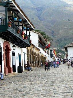 Villa De Leyva, Plaza, Colonial, Boyacá, Colombia