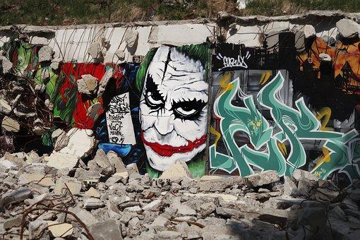 Graffiti, Joker, Gravat, Demolition, Grenoble