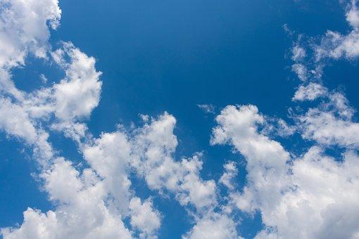 Clouds, Blue Sky, Blue Sky Background, Fluffy
