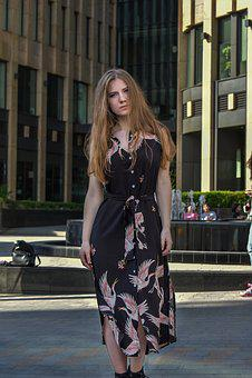 Fashion, Street, City Centre, Girl, Megalopolis, Dress