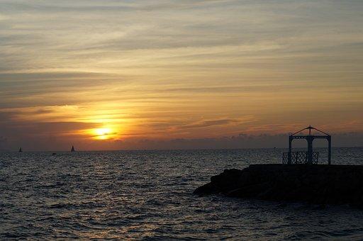 Sunset, Landscapes, Horizon, Evening Sun, Ocean