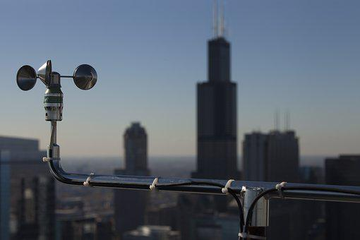 Weather Vane, Skyscraper, Skyline, Chicago, Illinois