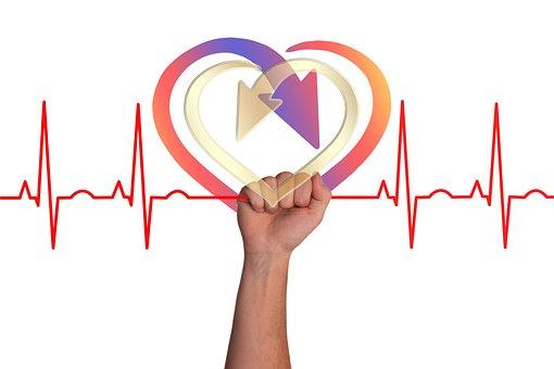 Heart, Curve, Live, Thread, Seidener Thread, Bless You