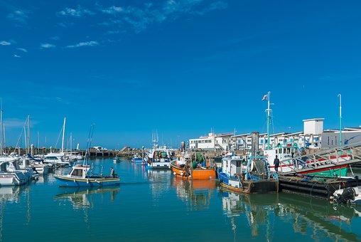 Port, Boat, France, Loire Atlantique, Turballe, Marine