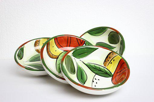 Plates, Decor, Decoration, Handmade, Traditional