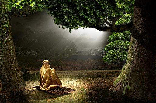 Girl, Pray, Religion, Portrait, Ramadhan