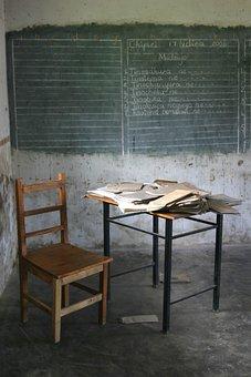 Africa, In The Classroom, School, Blackboard