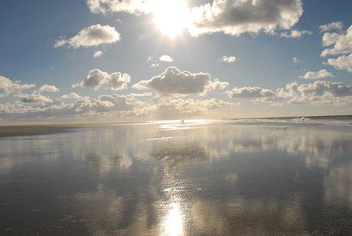 Sea, Sky, Beach, Clouds, Sun, Water, Blue, By The Sea
