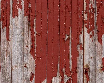 Barn Wood, Texture, Weathered, Peeling Paint, Rustic