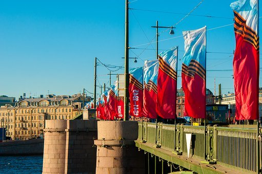 St Petersburg Russia, May 9, River, Holiday, Victory