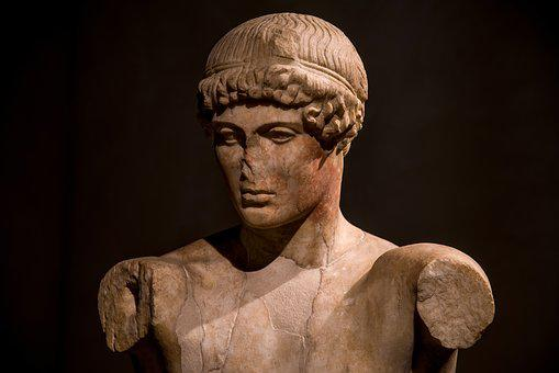 Statue, Roman, Antique, Sculpture, Stone, Man, Young