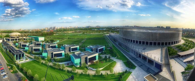 Krasnodar, Sports, Stadium, Panorama, Academy