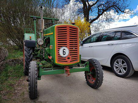 Tractor, Old, Pkw, New, Old Tractor, Agriculture