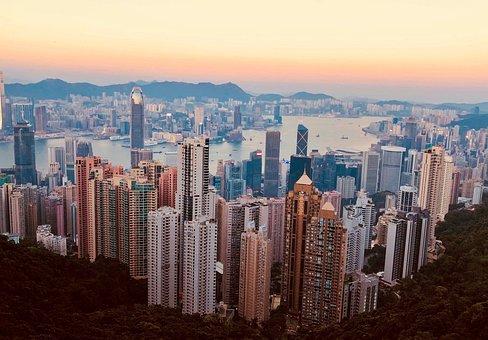 Hong Kong, City, Architecture, Building, Sky, Modern