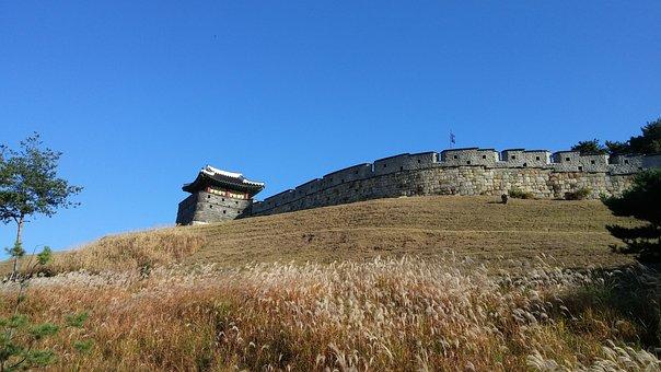 Korea, Castle, Mars, Suwon, Autumn