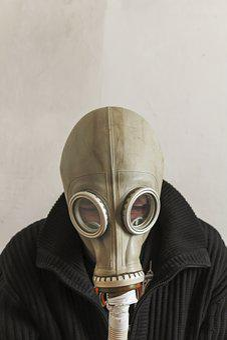 Man In Gas Mask, Gas Mask, Man, Chernobyl, Danger