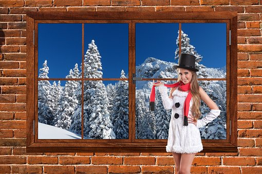 Christmas, Snow, Winter, Holiday, Xmas, Woman, Girl