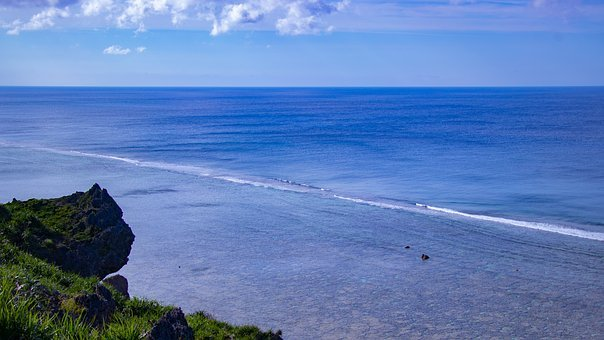 Sea, Sky, Blue, Cloud, Okinawa, Landscape, Sunny