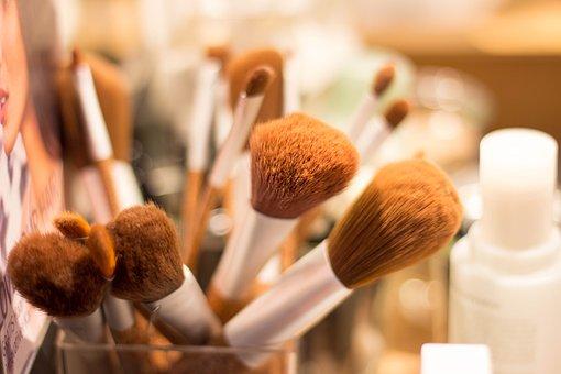 Brush, Make Up, Cosmetics, Beauty, Schmink Brush, Color